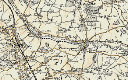 Old map of Leasey Bridge in 1898-1899