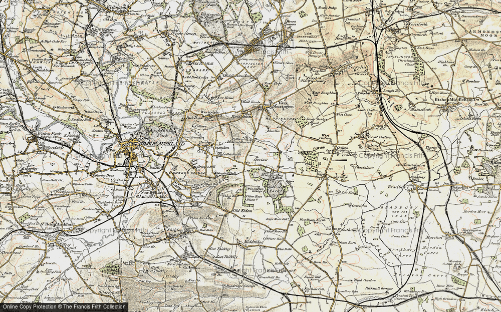 Old Map of Leasingthorne, 1903-1904 in 1903-1904