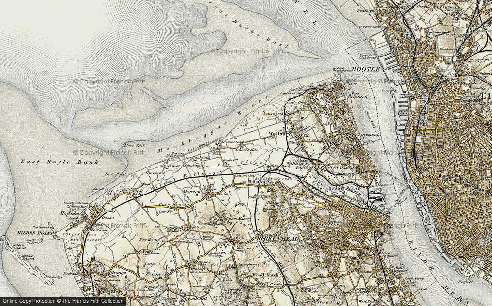 Old Map of Leasowe, 1902-1903 in 1902-1903