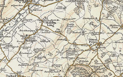 Old map of Ashfield in 1902