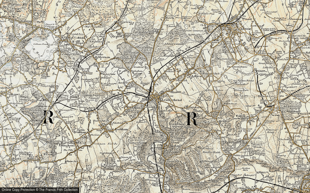 Old Map of Leatherhead, 1897-1909 in 1897-1909