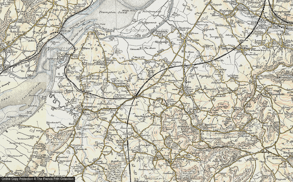 Old Map of Leathern Bottle, 1898-1900 in 1898-1900