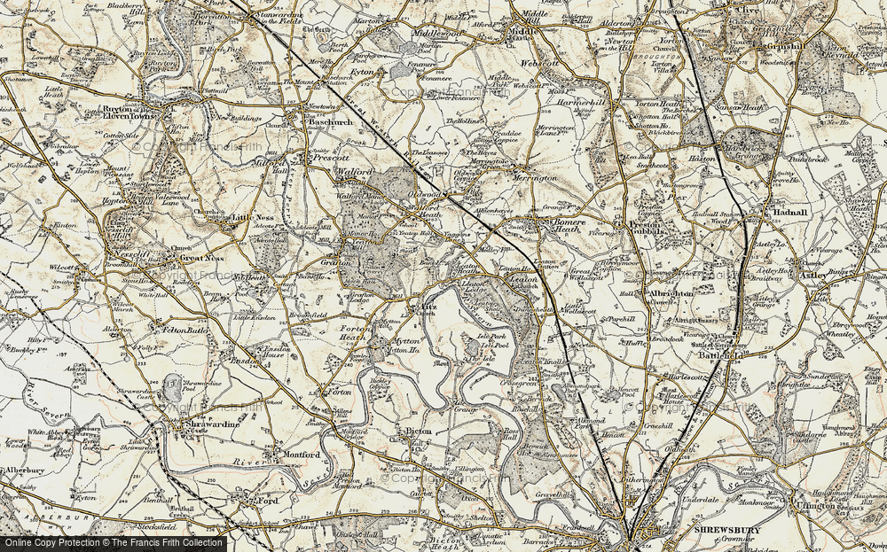 Old Map of Historic Map covering Yeaton Peverey in 1902