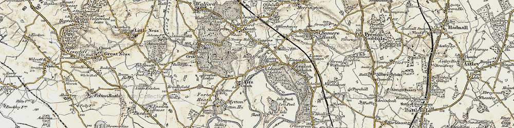 Old map of Leaton Heath in 1902