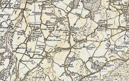 Old map of Leaveland in 1897-1898