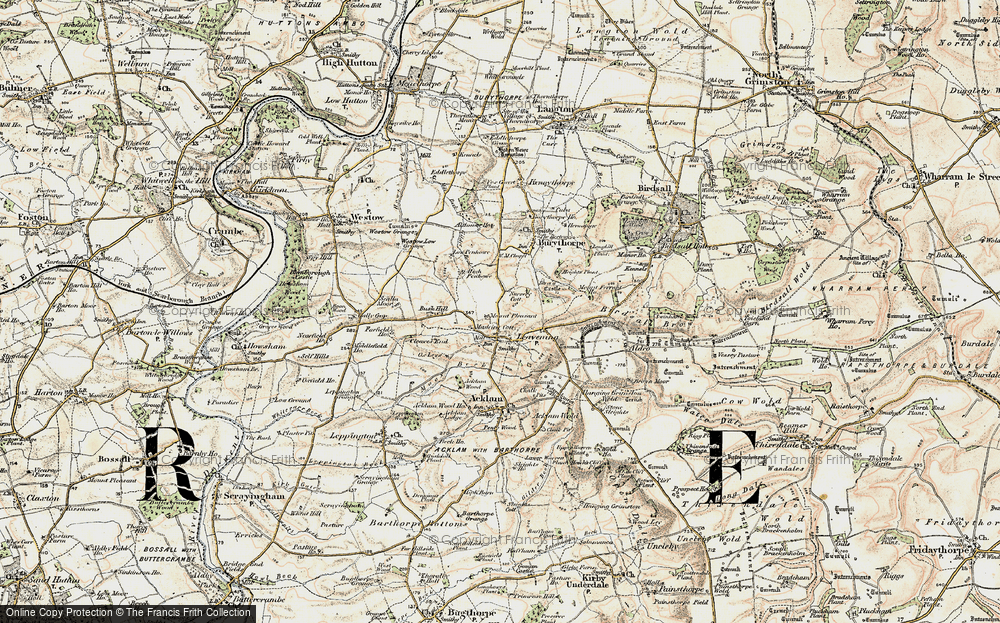 Old Map of Leavening, 1903-1904 in 1903-1904