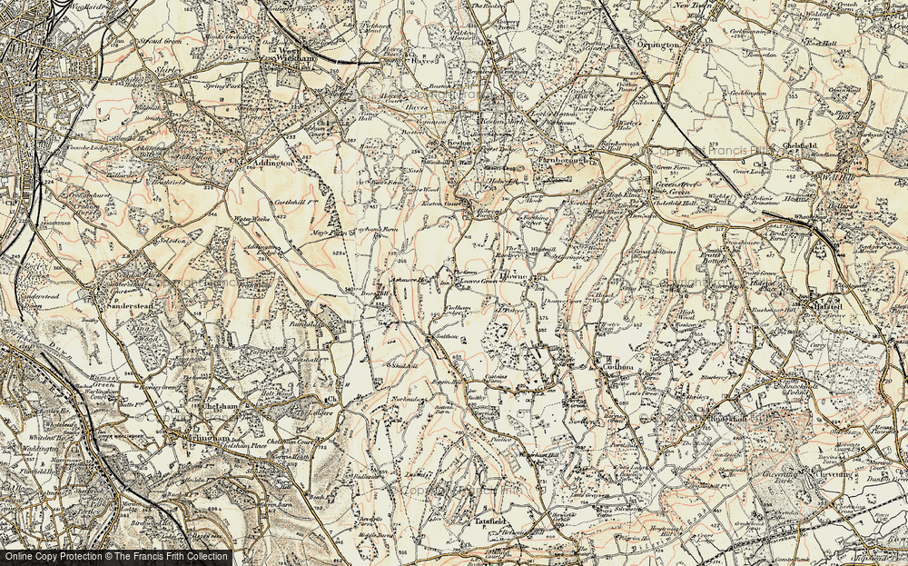 Old Map of Leaves Green, 1897-1902 in 1897-1902