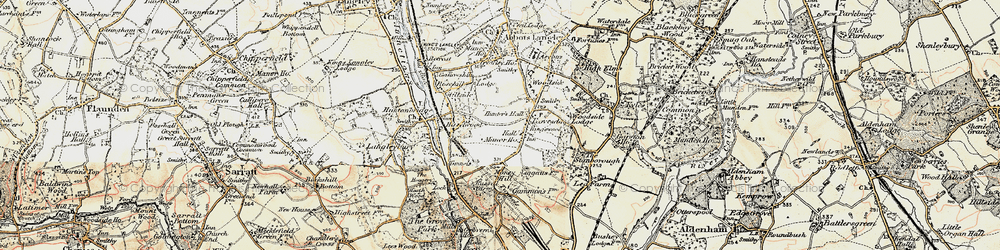 Old map of Leavesden Green in 1897-1898