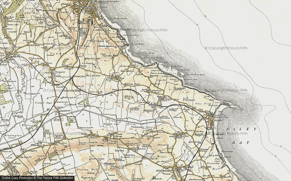 Old Map of Lebberston, 1903-1904 in 1903-1904