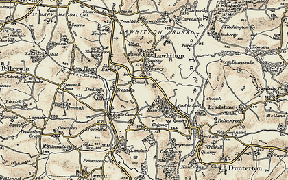 Old map of Leburnick in 1899-1900