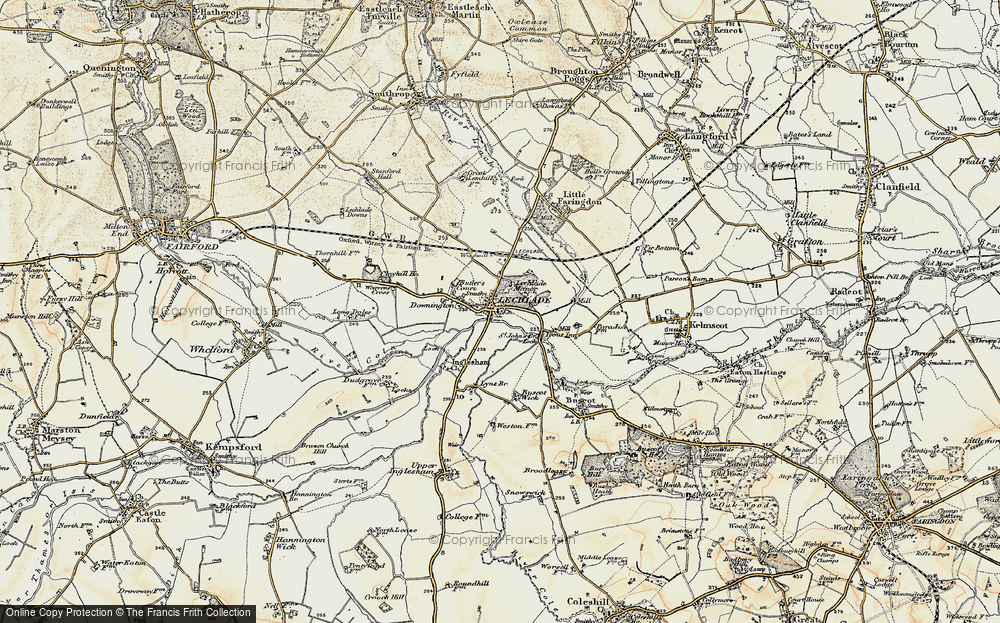 Old Map of Lechlade on Thames, 1898-1899 in 1898-1899