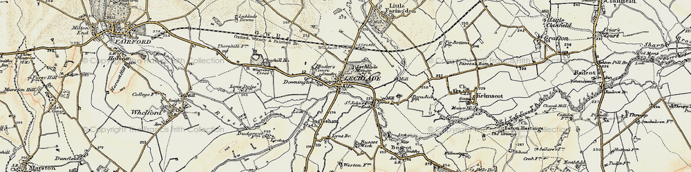 Old map of Lechlade on Thames in 1898-1899