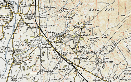 Old map of Leck Beck in 1903-1904