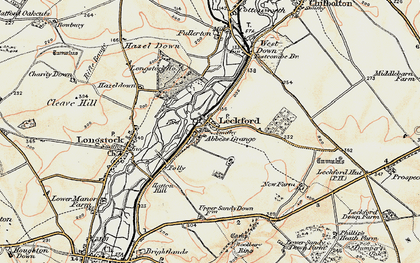 Old map of Leckford in 1897-1900