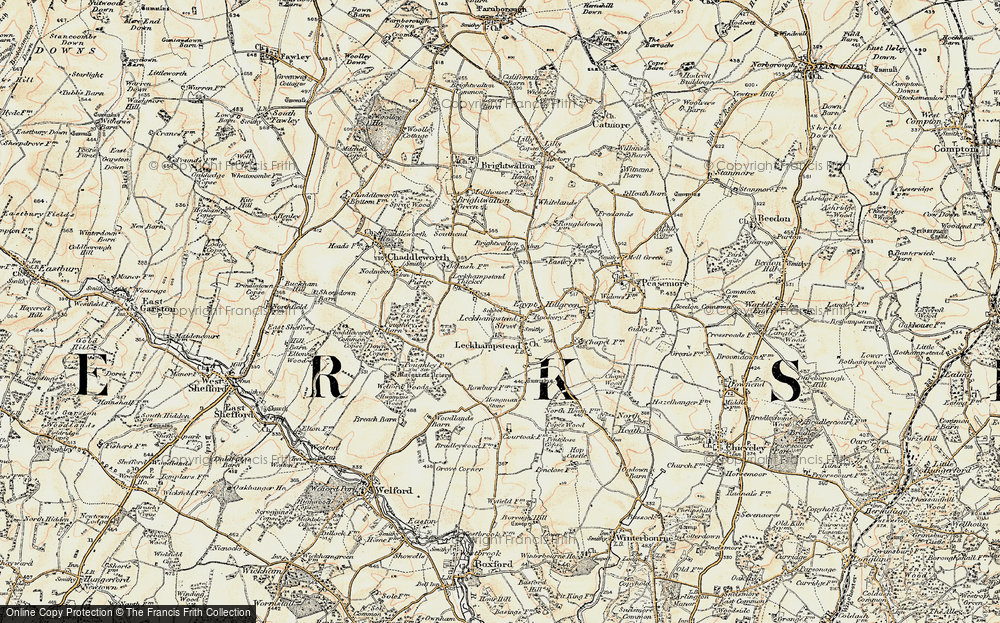 Old Map of Leckhampstead, 1897-1900 in 1897-1900