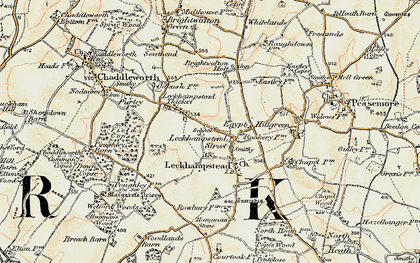 Old map of Leckhampstead in 1897-1900