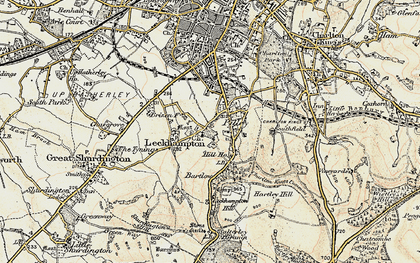 Old map of Leckhampton Hill in 1898-1900