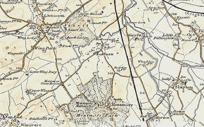 Old map of Ledburn in 1898