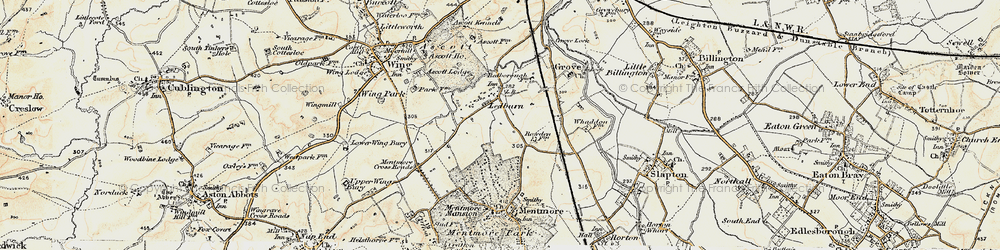 Old map of Ledburn in 1898
