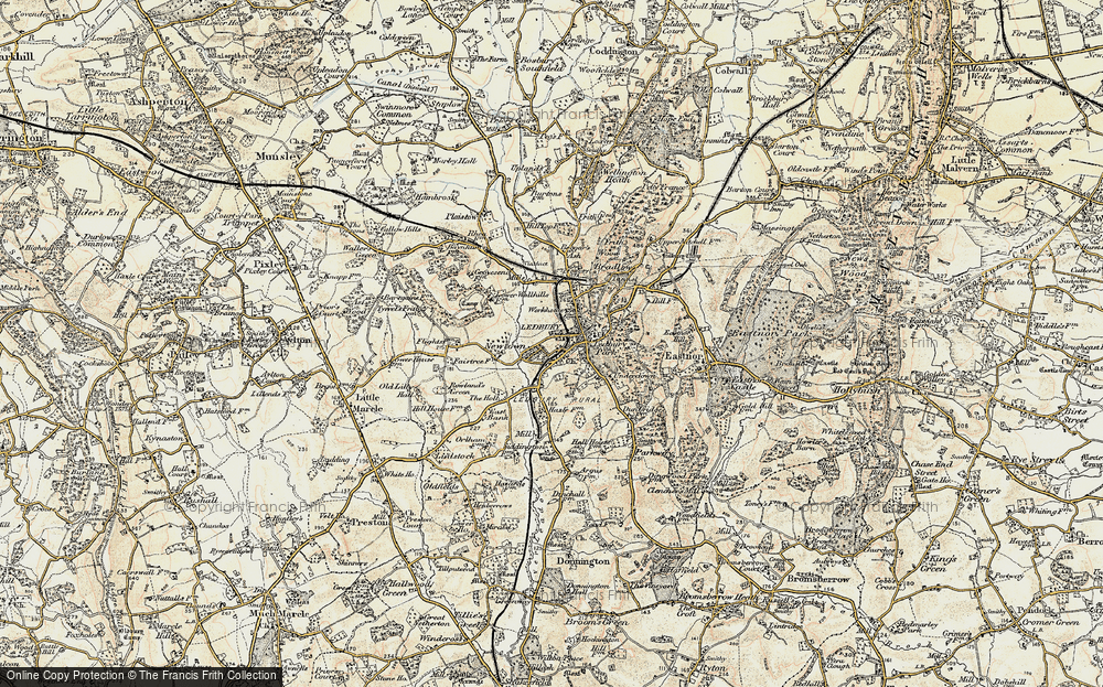 Old Map of Ledbury, 1899-1901 in 1899-1901