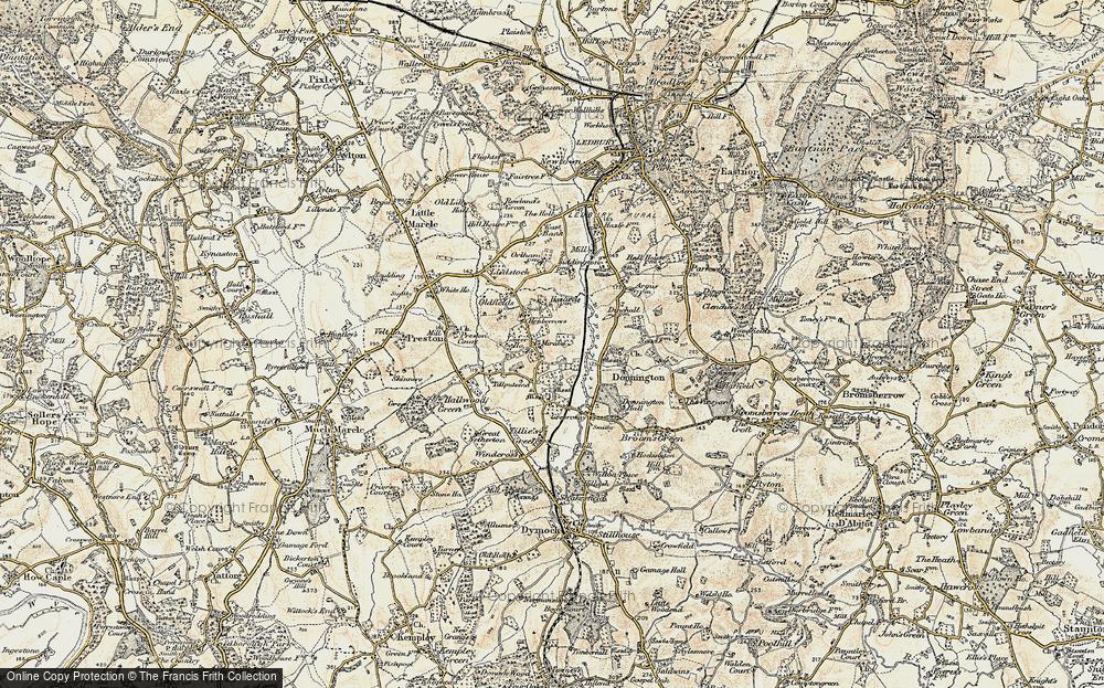Old Map of Leddington, 1899-1901 in 1899-1901