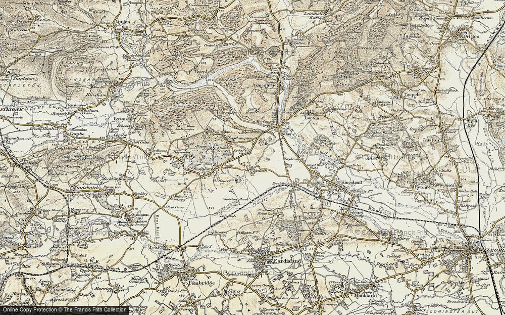 Old Map of Ledicot, 1900-1903 in 1900-1903