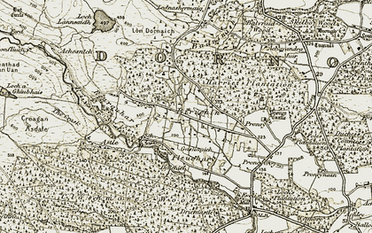 Old map of Lednabirichen in 1911-1912