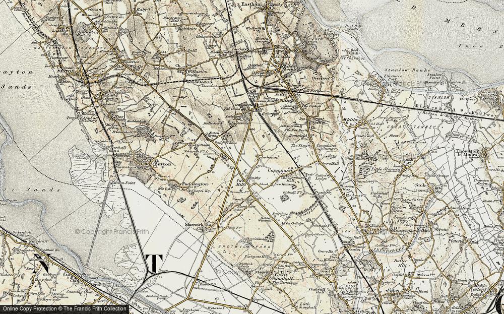 Old Map of Ledsham, 1902-1903 in 1902-1903
