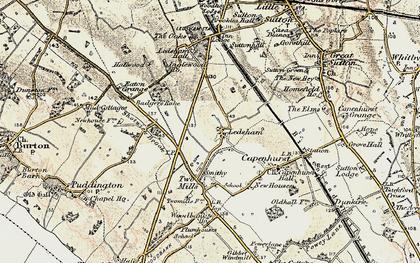 Old map of Ledsham in 1902-1903