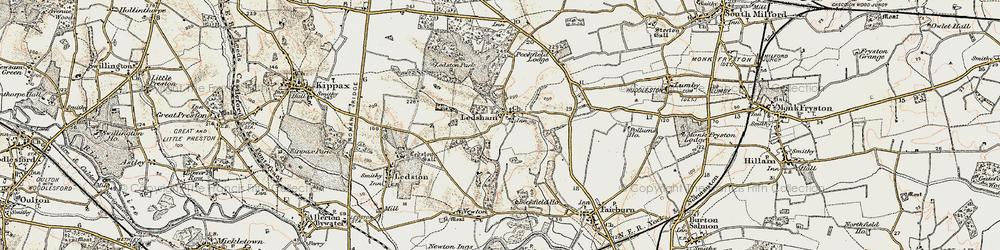 Old map of Ledsham in 1903