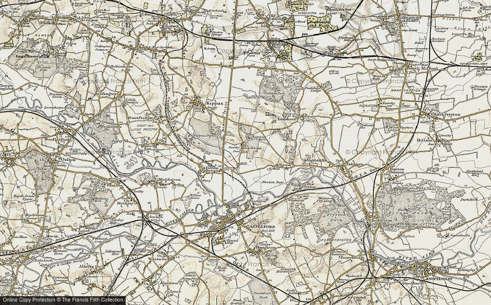 Old Map of Ledston, 1903 in 1903