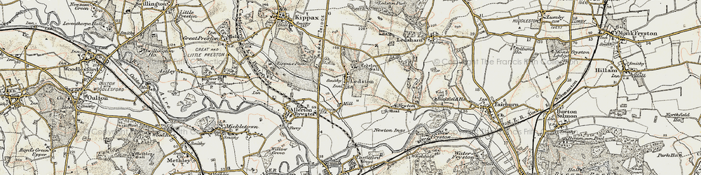 Old map of Ledston in 1903