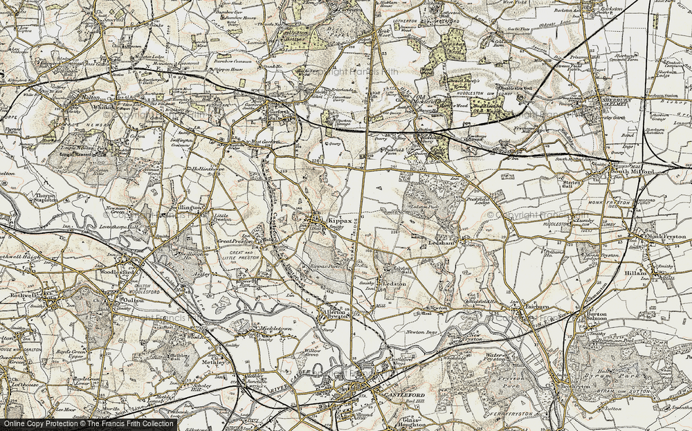 Old Map of Ledston Luck, 1903 in 1903