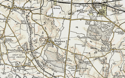 Old map of Ledston Luck in 1903