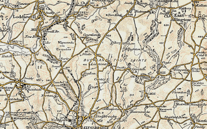 Old map of Ledstone in 1899