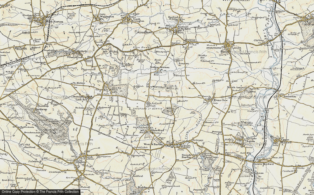 Old Map of Ledwell, 1898-1899 in 1898-1899