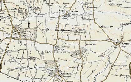 Old map of Ledwell in 1898-1899