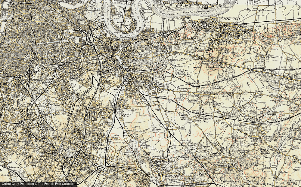Old Map of Lee, 1897-1902 in 1897-1902