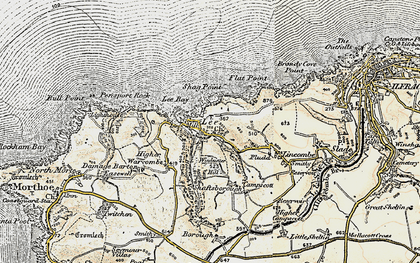 Old map of Lee in 1900