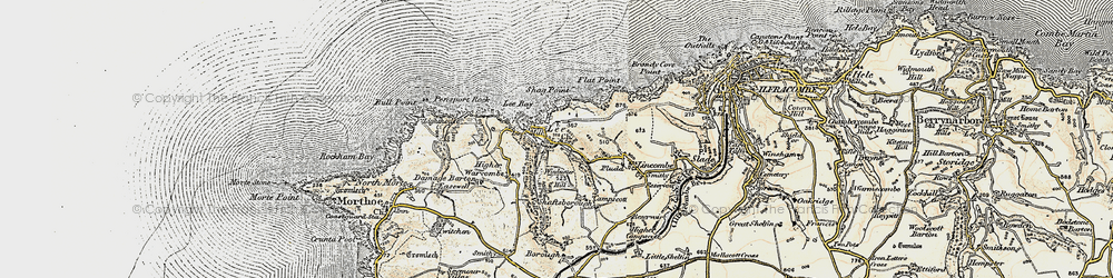 Old map of Windcutter Hill in 1900