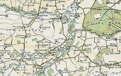 Old map of Linnel Wood in 1901-1904