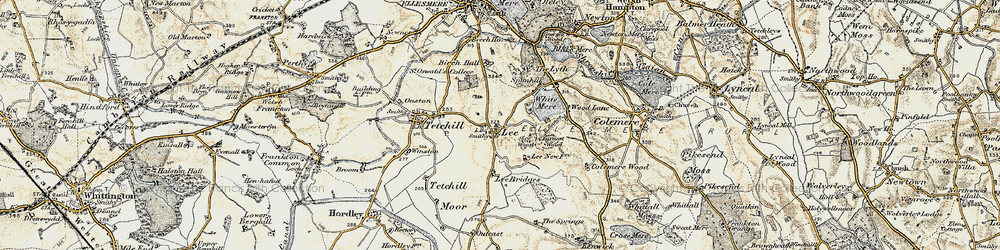 Old map of Lee in 1902