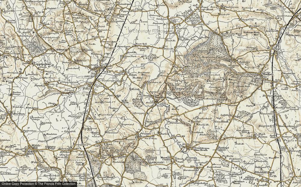 Old Map of Lee Brockhurst, 1902 in 1902