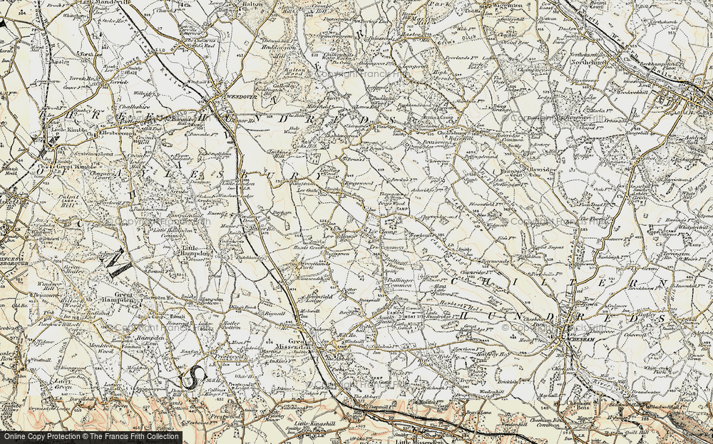 Old Map of Lee Common, 1897-1898 in 1897-1898