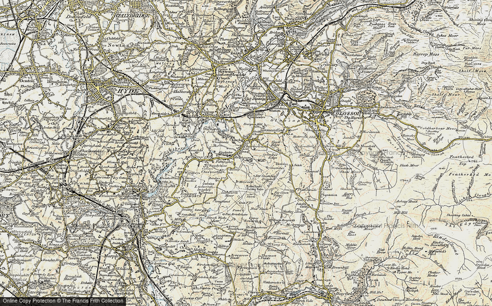 Old Map of Lee Head, 1903 in 1903