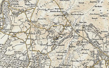 Old map of Lee Moor in 1899-1900
