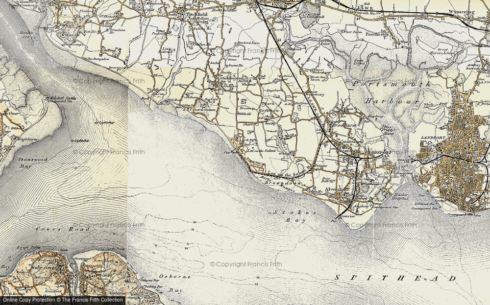 Old Map of Lee-on-the-Solent, 1897-1899 in 1897-1899