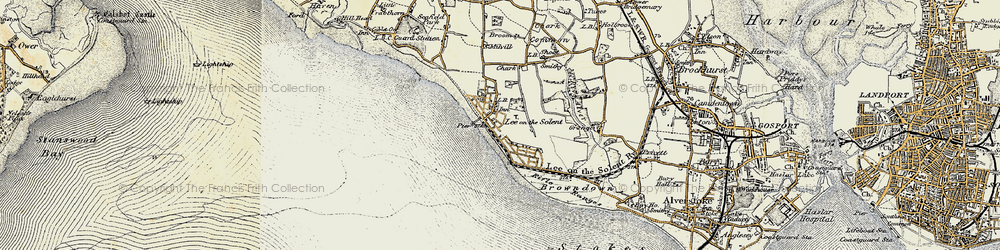 Old map of Lee-on-the-Solent in 1897-1899
