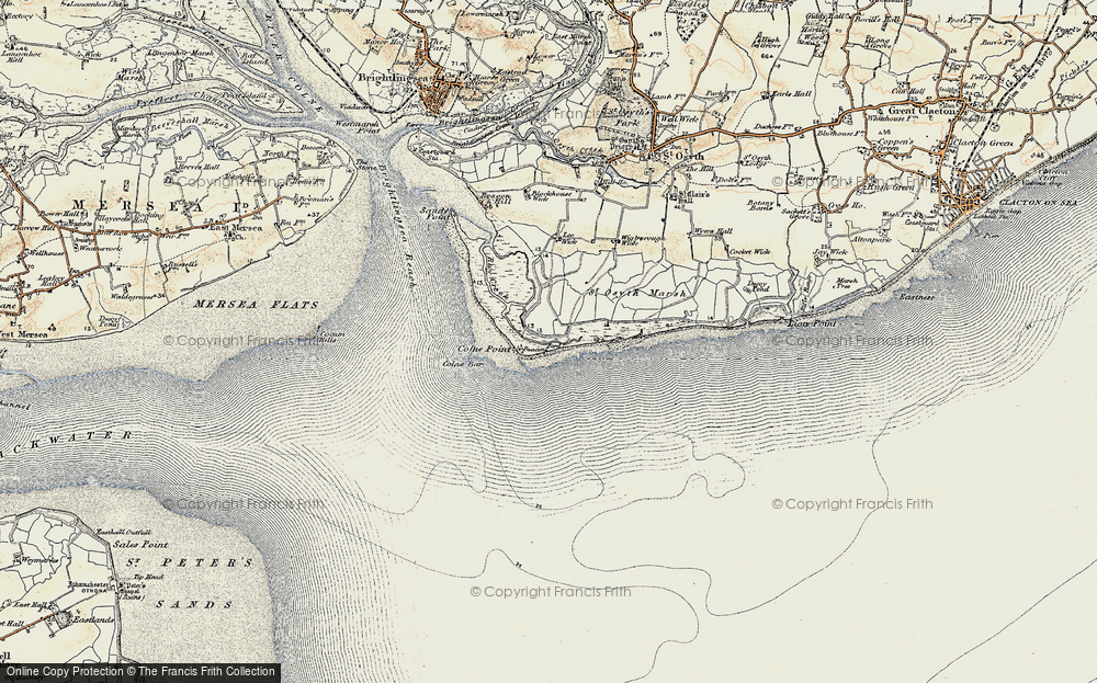 Old Map of Lee-over-Sands, 1898 in 1898