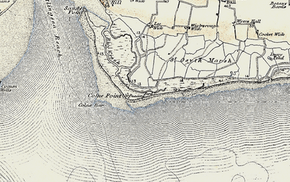 Old map of Lee-over-Sands in 1898
